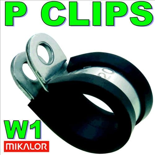 32mm W1 EPDM Rubber Lined Metal P Clip