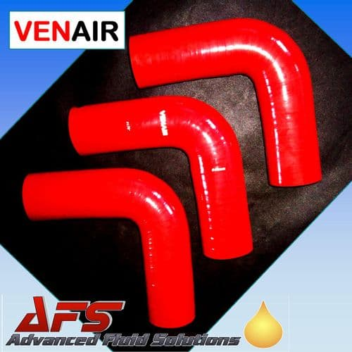 "48mm (1 7/8"") RED 90° Degree SILICONE ELBOW HOSE PIPE"