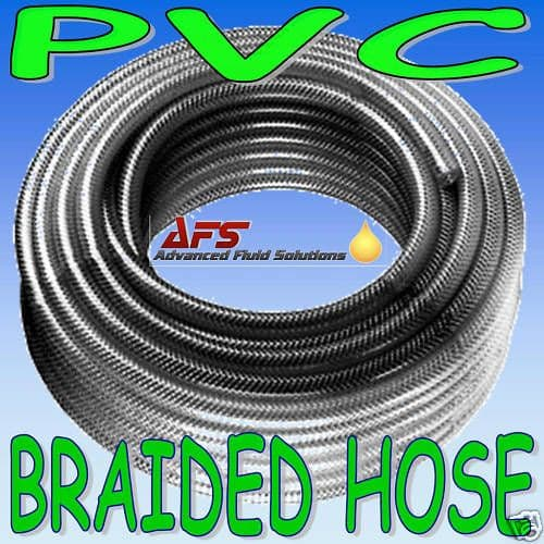"5mm 3/16"" Reinforced Clear PVC Braided Hose"