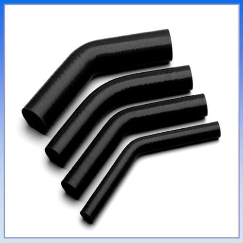 "6mm (1/4"") I.D BLACK 45° Degree SILICONE ELBOW HOSE PIPE"