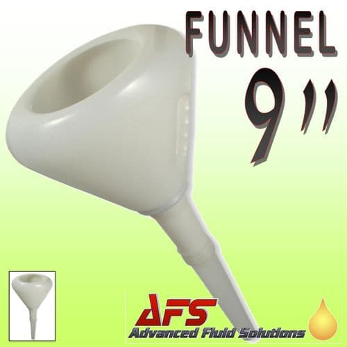 """9"""" Plastic Funnel with Strainer & Flexible Spout"""