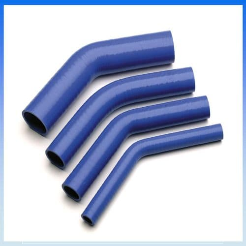 """90mm (3 1/2"""") I.D BLUE 45° Degree SILICONE ELBOW HOSE PIPE"""