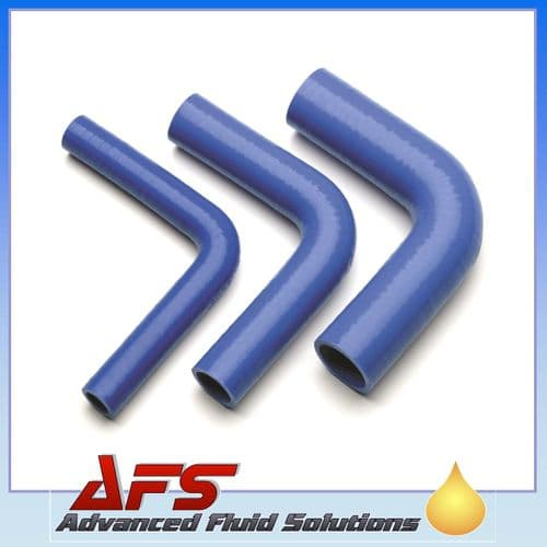 """90mm (3 1/2"""") I.D BLUE 90° Degree SILICONE ELBOW HOSE PIPE"""