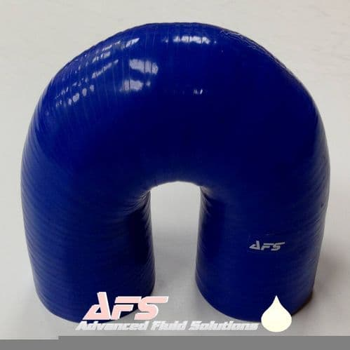 90mm (3.1/2 Inch) I.D BLUE 180 Degree Silicone Pipe U Bend Silicon Hose
