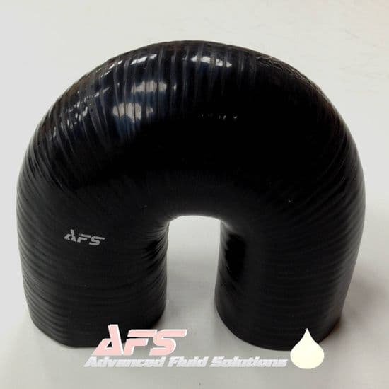 Black 180 Degree Silicone Hose - U Bend Silicon Pipe 102mm Legs
