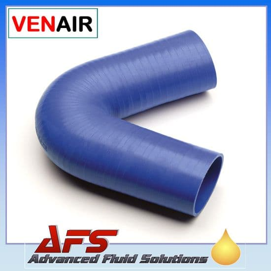 Blue 135 Degree Silicone Hose 102mm Legs