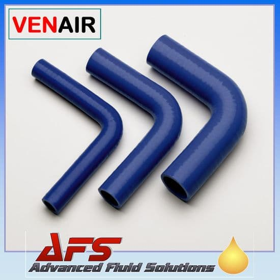 Blue 90 Degree Silicone Hose 150mm Legs