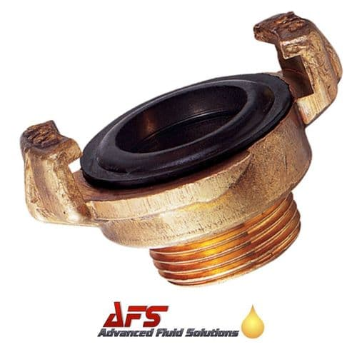 Brass Geka Type Quick Coupling x 1 1/2 BSPT Male Thread
