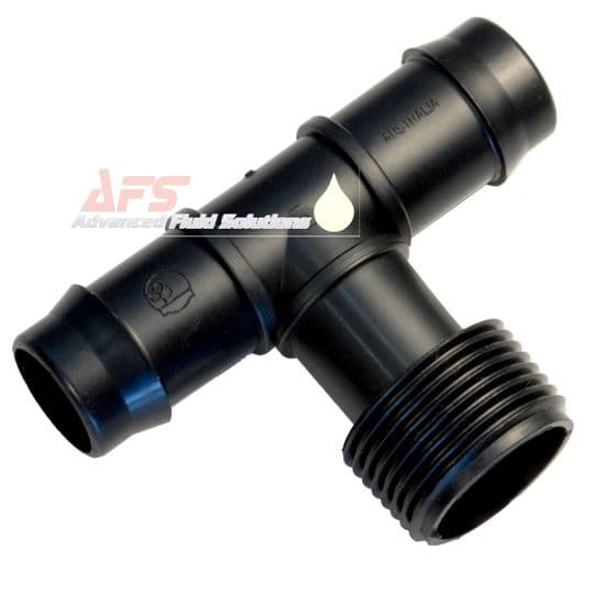 BSP Male Threaded Branch Tee Piece T Hose Joiners (PP) Polypropylene Plastic Poly Fittings