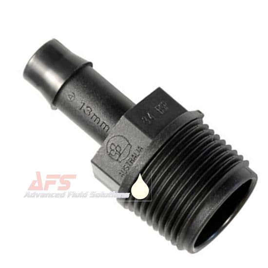BSPT x Straight Hose Pipe Joiners (PP) Polypropylene Plastic Fittings