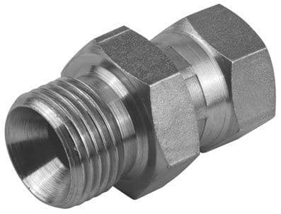 Male x Swivel Female Mild Steel Hydraulic Adaptors