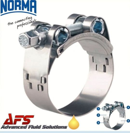 NORMA GBS W4 Stainless Heavy Duty Clamps T Bolt Super Hose Clips