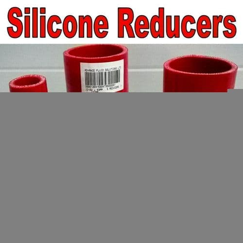 Red 70mm To 50mm Straight Silicone Reducer, Reducing Silicon Hose Pipe