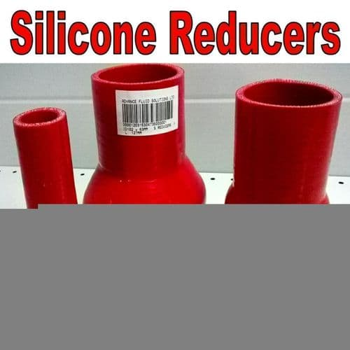 Red 76mm To 51mm Straight Silicone Reducer, Reducing Silicon Hose Pipe