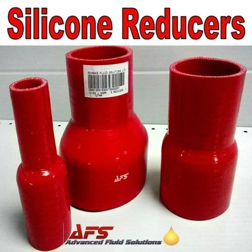 Red 89mm To 57mm Straight Silicone Reducer, Reducing Silicon Hose Pipe