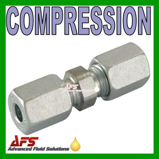 Tube to Tube Compression Equal Straight Pipe Coupling