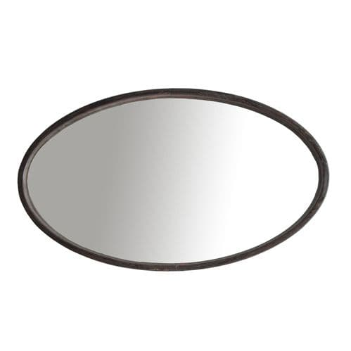 Oval Wooden Mirror For Sale (47cm) - Chic Paradis Lux