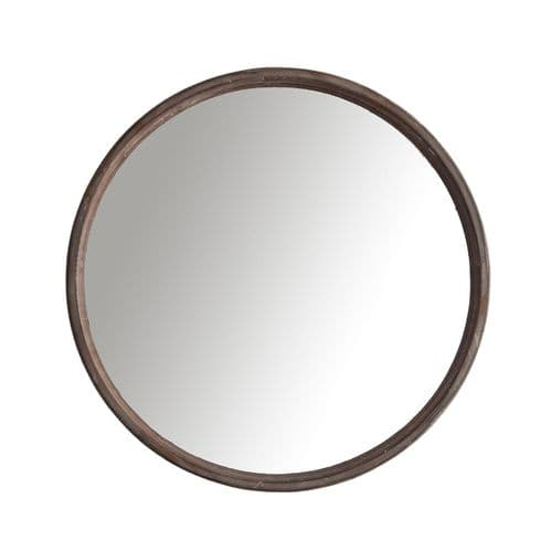 Round Wooden Mirror For Sale (60cm) - Chic Paradis Lux