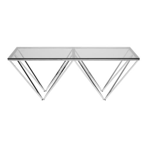 Abisha Rectangular Coffee Table Chrome Home Furniture