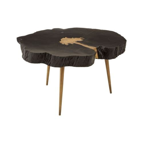 Abram Coffee Table Black and Gold Home Furniture
