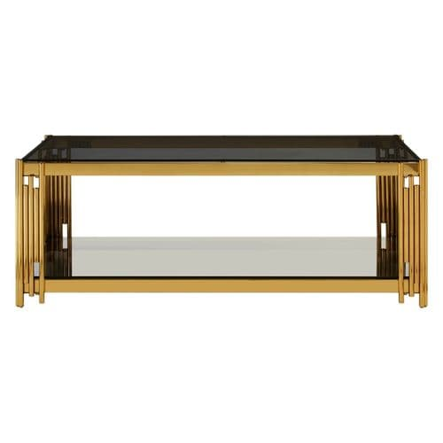 Adonis Rectangular Coffee Table Gold Home Furniture