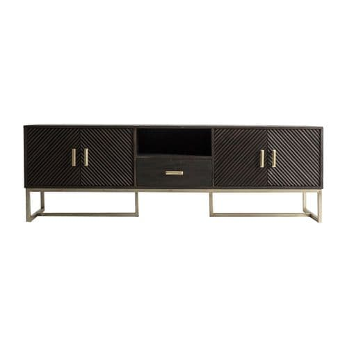 Adrianna Solid Wood TV Stand For Sale - ChicParadisLux