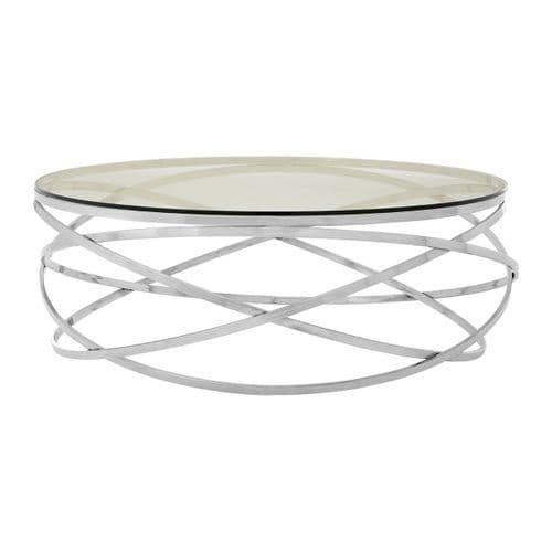 Alan Round Coffee Table Silver Home Furniture