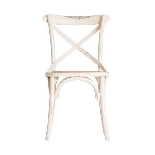 Alfreda Off White Wooden Dining Chair