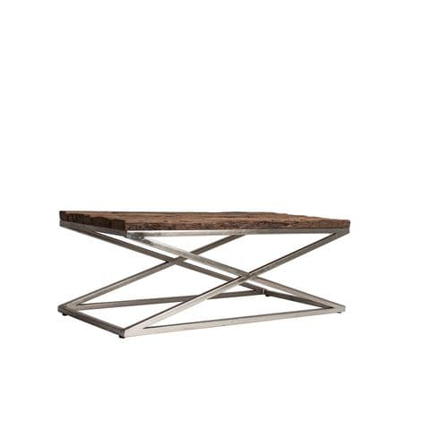Allan Gorgeous Wooden Top Coffee Table - ChicParadisLux