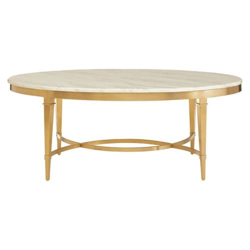 Amaya Oval Coffee Table White Home Furniture