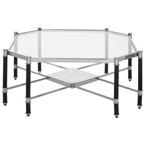 Andrea Coffee Table Silver Finish Home Furniture