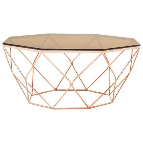 Asher Coffee Table Rose Gold Home Furniture