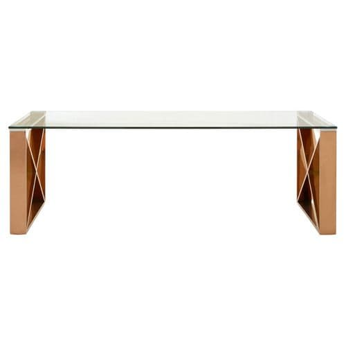 Astar Coffee Table Rose Gold Home Furniture