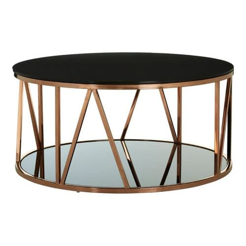 Austin Round Coffee Table Rose Gold Home Furniture