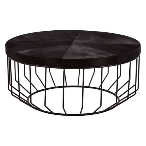 Barnardo Coffee Table Black Finish Home Furniture