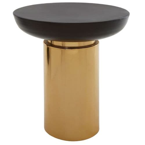 Barnardo Round Table Black/Gold Home Furniture