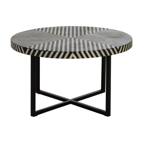 Beau Cross Base Coffee Table Black Home Furniture