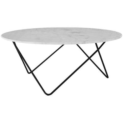 Beau Round Marble Coffee Table White Home Furniture
