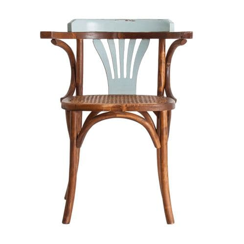 Cally Brown And Light Blue Wooden Dining Chair