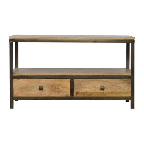 Camisole Coffee Table With Iron Base Oak Home Furniture