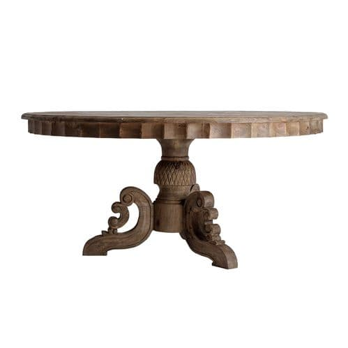 Deano 160cm Round Solid Wood Dining Table