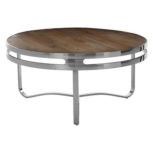 Delma Round Coffee Table Natural Finish Home Furniture