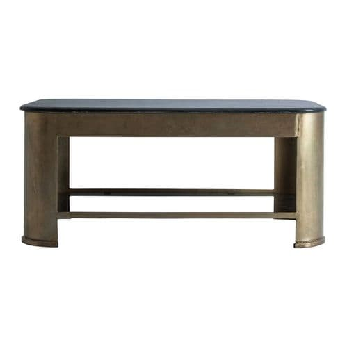 Derker  99cm Black Marble And Gold Coffee Table