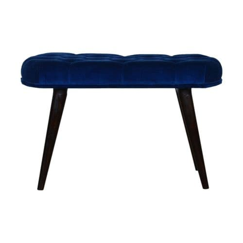 Difisor Velvet Bench - Royal Blue | Home Furniture