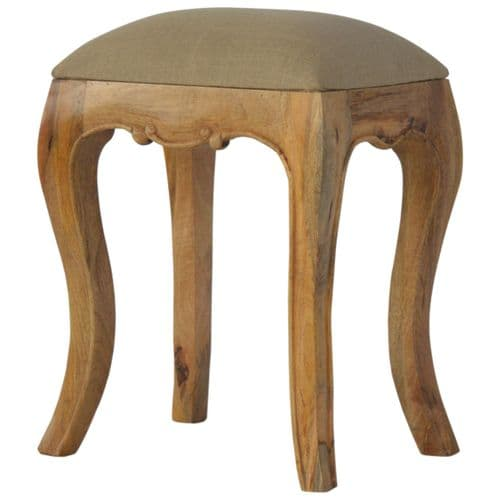 Dimmitry Stool with Mud Linen Seat Oak Home Furniture
