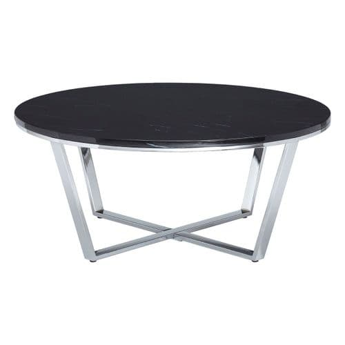 Edmond Round Coffee Table Black Home Furniture