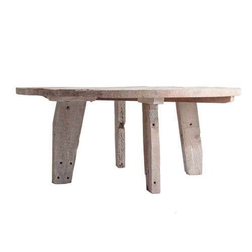 Erin 180cm  Large Round Wooden Rustic Dining Table