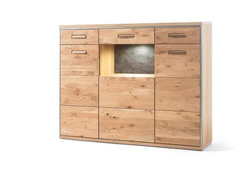 Esther 3 Door 2 Drawer Tall Sideboard - Chic Paradis Lux