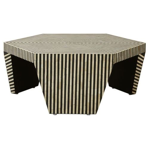 Fabian Hexagonal Coffee Table Black Home Furniture
