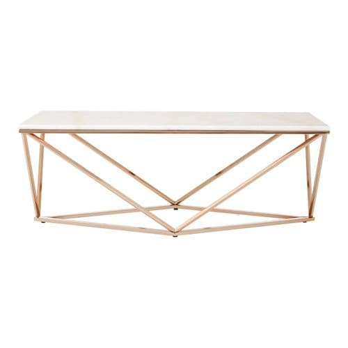 Farrel Coffee Table Champagne Gold Home Furniture